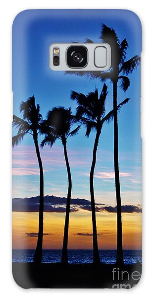 Hula Palms At Sunset Galaxy Case