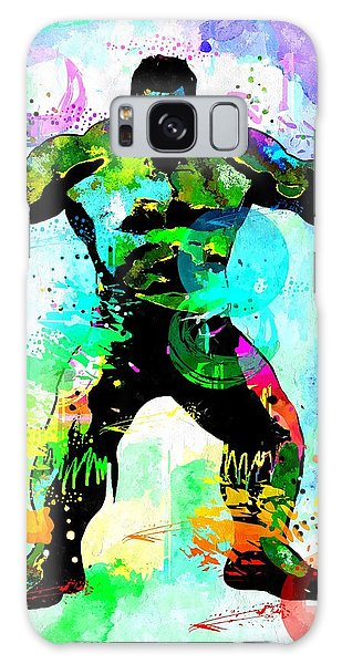 Hulk Watercolor Galaxy Case by Daniel Janda