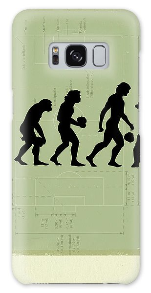 Soccer Galaxy S8 Case - Human Evolution by Smetek