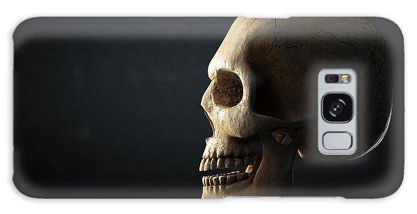 Bone Galaxy Case - Human Skull Profile On Dark Background by Johan Swanepoel