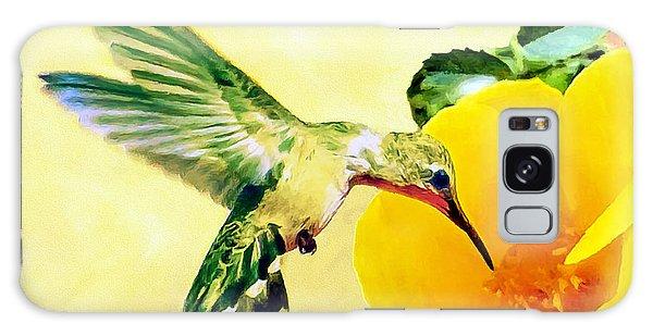 Hummingbird And California Poppy Galaxy Case