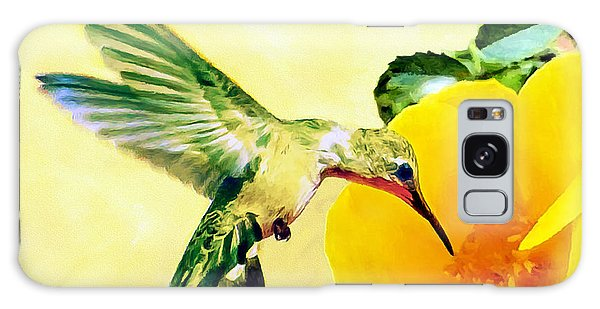 Hummingbird And California Poppy Galaxy Case