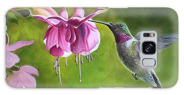 Hummingbird And Fuschia Galaxy Case
