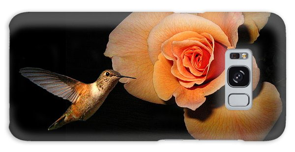 Hummingbird And Orange Rose Galaxy Case