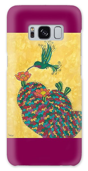 Hummingbird And Prickly Pear Galaxy Case by Susie Weber