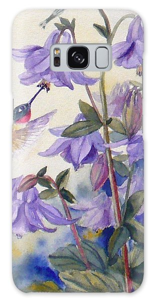 Hummingbird And Purple Columbine Galaxy Case