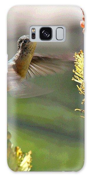 Hummingbird Feeding Galaxy Case