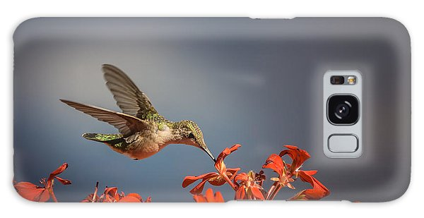 Hummingbird Or My Summer Visitor Galaxy Case by Jola Martysz