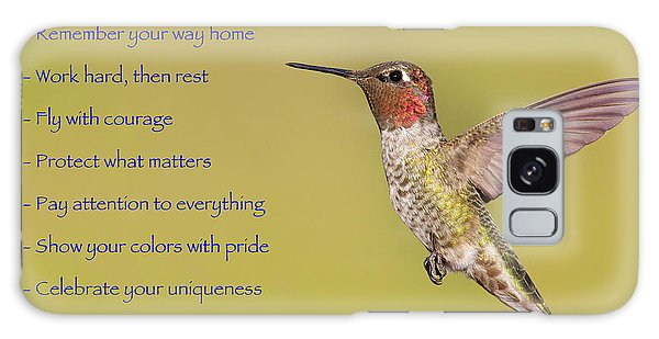Hummingbird Wisdom Galaxy Case
