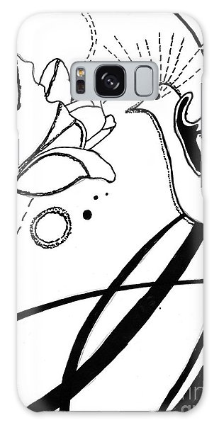Hummingbird With Flower Galaxy Case by Christine Perry