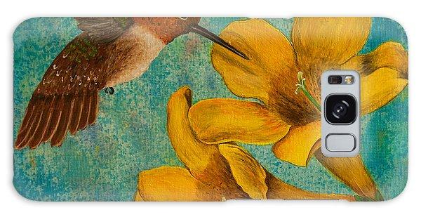 Hummingbird With Yellow Jasmine Galaxy Case