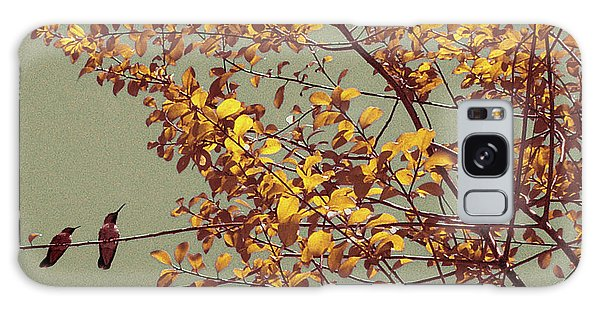 Hummingbirds On Yellow Tree Galaxy Case