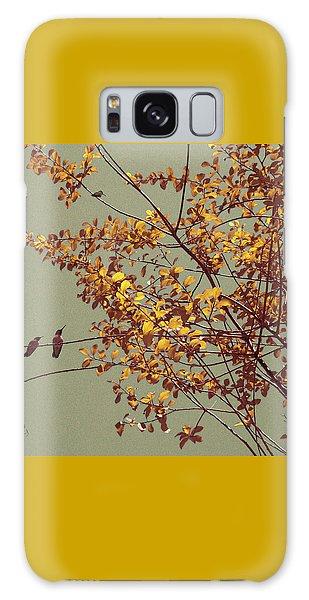 Hummingbirds On Yellow Tree Galaxy Case
