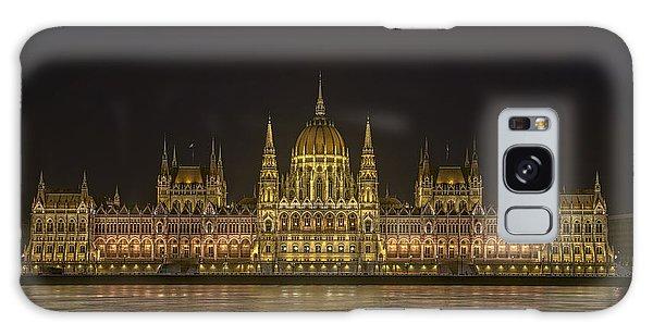 Hungarian Parliament Building Night Galaxy Case