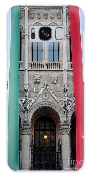 Hungary Flag Hanging At Parliament Budapest Galaxy Case