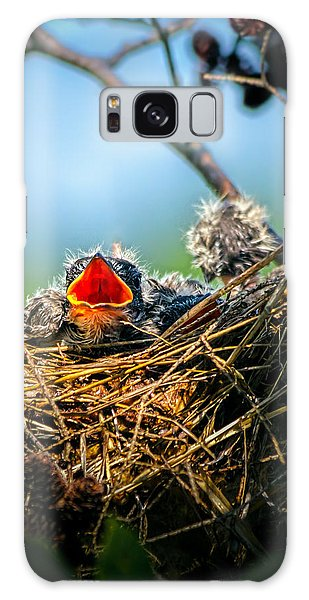 Hungry Tree Swallow Fledgling In Nest Galaxy S8 Case