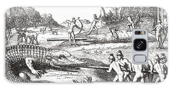Hunting Alligators In The Southern States Of America Galaxy Case