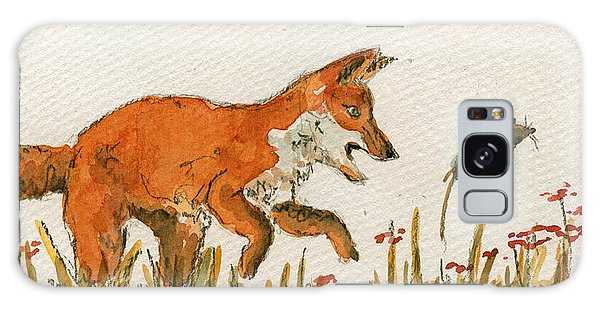 Mouse Galaxy Case - Hunting Red Baby Fox by Juan  Bosco