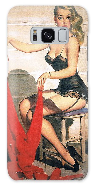 Hunting Time - Retro Pinup Girl Galaxy Case by Tilen Hrovatic