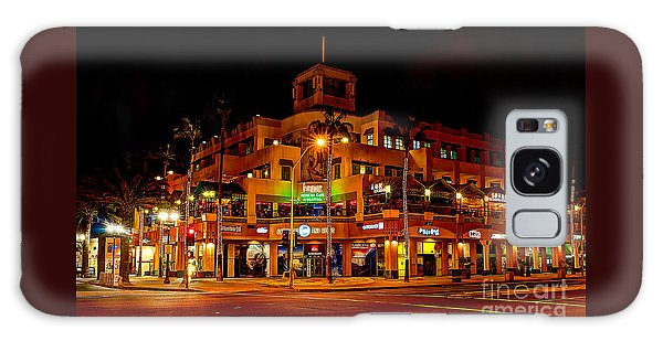 Huntington Beach Downtown Nightside 1 Galaxy Case