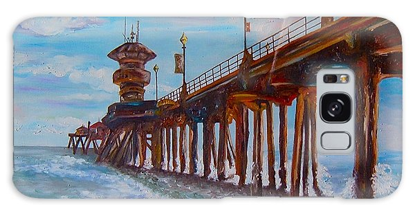 Huntington Beach Pier 2 Galaxy Case
