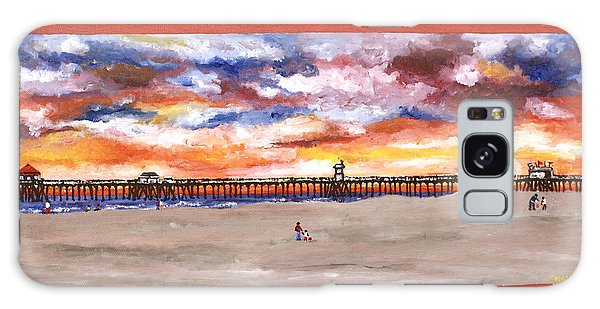 Huntington Beach Pier 3 Galaxy Case
