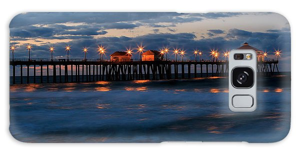 Huntington Beach Pier Lights  Galaxy Case by Duncan Selby