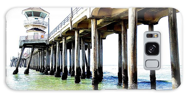 Huntington Beach Pier Galaxy Case by Margie Amberge