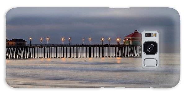 Huntington Beach Pier Morning Lights Galaxy Case by Duncan Selby