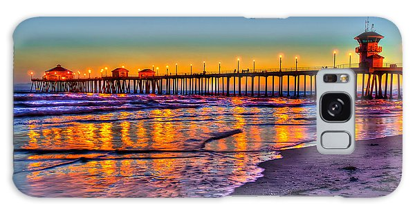 Huntington Beach Pier Sundown Galaxy Case