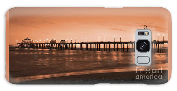 Huntington Beach Pier - Twilight Sepia Galaxy Case