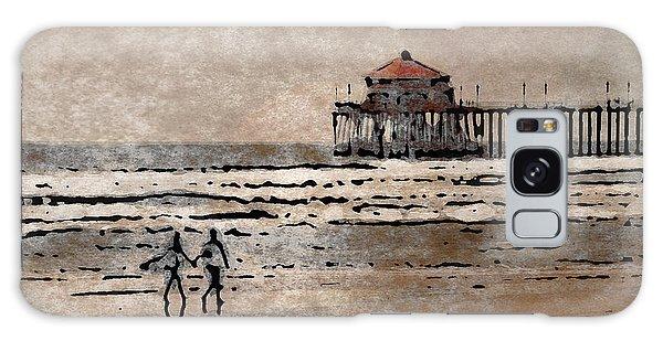Huntington Beach Surfers Galaxy Case by Andrea Auletta