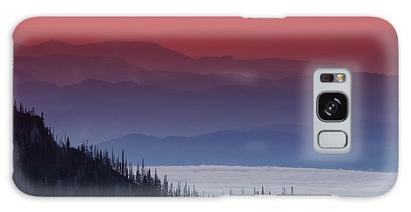 Hurricane Ridge Sunset Galaxy Case