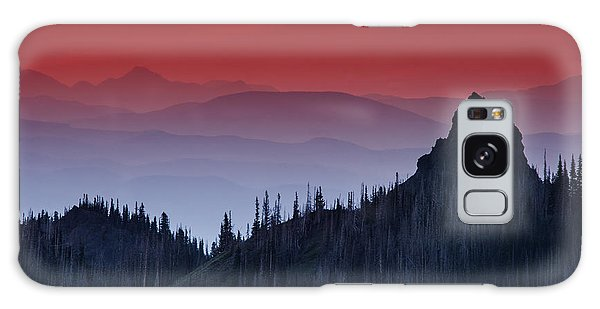Hurricane Ridge Sunset Vista Galaxy Case