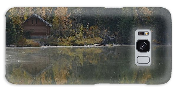 Hut By The Lake Galaxy Case by Cheryl Miller
