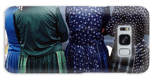 Hutterite Women At The Market Galaxy Case