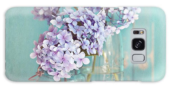 Hydrangeas In Mason Jars Galaxy Case