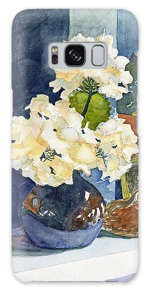 Hydrangeas On Mantle Galaxy Case