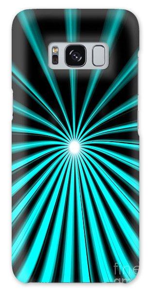 Hyperspace Cyan Portrait Galaxy Case