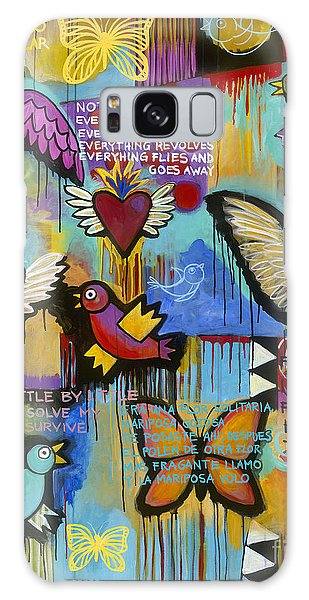Galaxy Case featuring the painting I Have Wings To Fly by Carla Bank