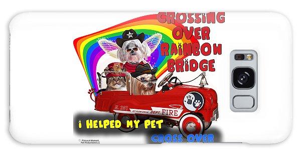 I Helped My Pet Cross Rainbow Bridge Galaxy Case