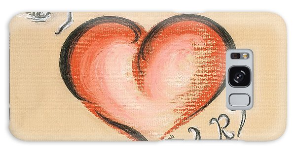 I Love Art Galaxy Case by Teresa White