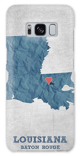 Sportsman Galaxy Case - I Love Baton Rouge Louisiana - Blue by Aged Pixel