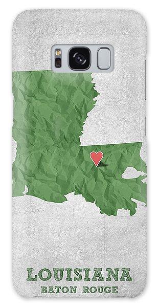 Sportsman Galaxy Case - I Love Baton Rouge Louisiana - Green by Aged Pixel
