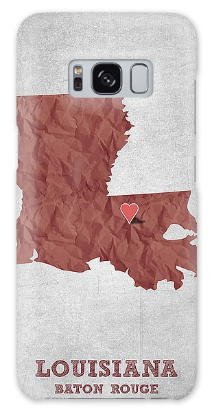 Sportsman Galaxy Case - I Love Baton Rouge Louisiana - Red by Aged Pixel