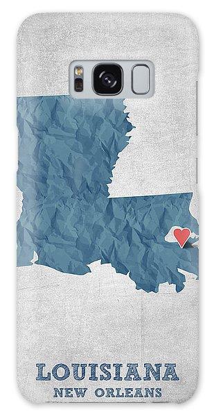 Sportsman Galaxy Case - I Love New Orleans Louisiana - Blue by Aged Pixel
