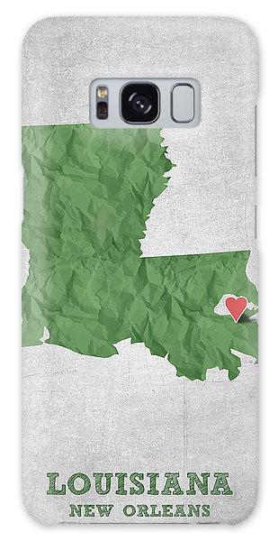 Sportsman Galaxy Case - I Love New Orleans Louisiana - Green by Aged Pixel