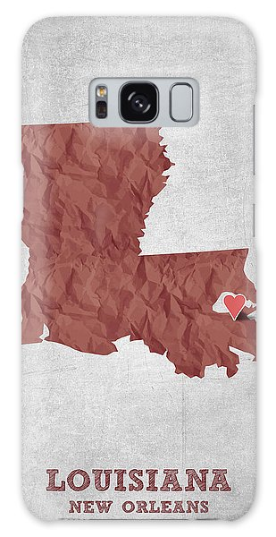 Sportsman Galaxy Case - I Love New Orleans Louisiana - Red by Aged Pixel