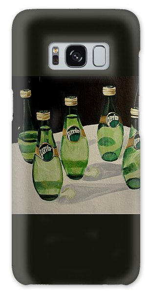 Perrier Bottled Water, Green Bottles, Conceptual Still Life Art Painting Print By Ai P. Nilson Galaxy Case