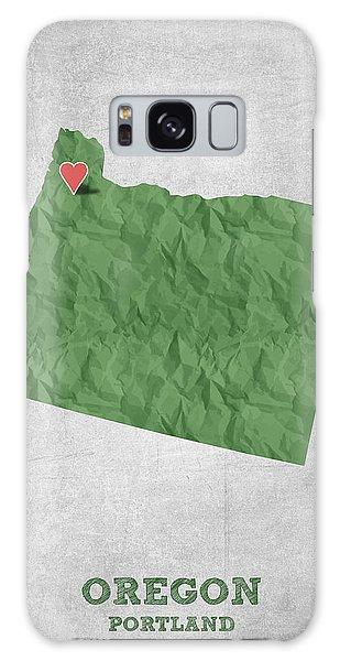 I Love Portland Oregon- Green Galaxy Case